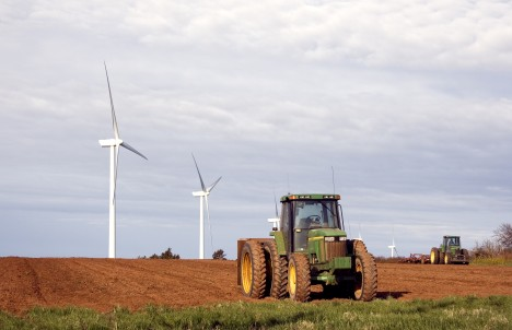 Tractor and Windmills